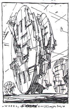Horizon Houses (2000) by Lebbeus Woods