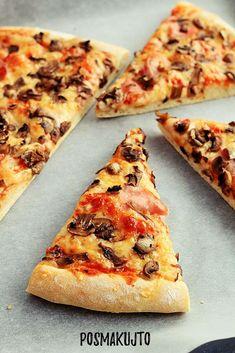 Domowa pizza – sprawdzony przepis na ciasto! White Pizza Recipes, Vegan Recipes, Pizza Food Truck, Canned Blueberries, Vegan Scones, Scones Ingredients, Easy Homemade Pizza, Vegan Blueberry, Chicken Pizza