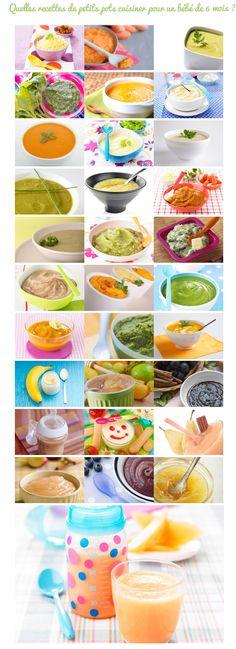 31 recettes de petits pots pour bébé de 6 mois. Découvrez la sélection du blog CuisineDeBebe