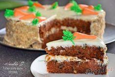 Mrkvový dort - lahodný a chutný   NejRecept.cz Torte Cake, Thing 1, Food And Drink, Cheesecake, Cupcakes, Easter, Sweets, Cookies, Per Diem