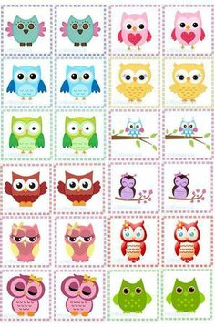 1 Owl Clip Art, Owl Art, Owl Crafts, Diy Home Crafts, Owl Activities, Owl Theme Classroom, Card Games For Kids, Crochet Owls, Owl Cartoon