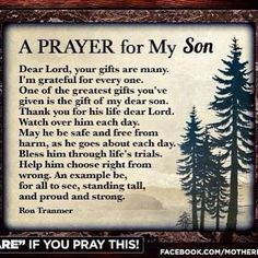 A prayer for my son.....