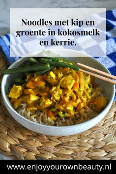 Vegetarian Comfort Food, Wok, I Love Food, Noodles, Food To Make, Curry, Food And Drink, Pasta, Healthy Recipes
