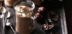 Warm up with this adults-only, boozy hot chocolate, spiked with a nip of your chosen coffee liqueur. For a non-alcoholic version simply omit the liqueur.