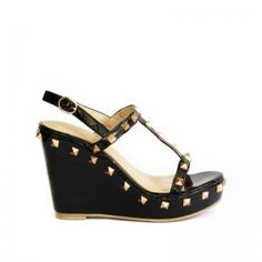 Casual, fashionable and animal-friendly T strap wedges