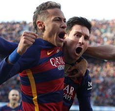 Messi, Neymar e Iniesta Fc Barcelona, Barcelona Vs Real Madrid, Messi And Neymar, Lionel Messi, Good Soccer Players, Don Juan, Football Fans, Leo, Couple Photos