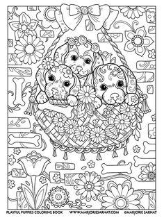 20 Best Marjorie Samat Playful Puppies Images Coloring Book