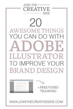 Join The Creative Side | 20 awesome things you can do with Adobe Illustrator to improve your brand design | I always recommend AI to everybody who wants to take their business to the next level. And also, if you would like to create a one of a kind brand, and not use graphics everybody else already has, then you definitely need AI. So in this post, I will show you some things you can do with Adobe Illustrator. And believe me:Those 20 things are not even a quarter of the things you can do…