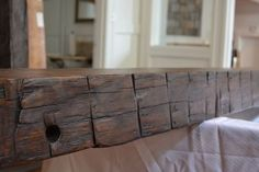 Hand Hewn Reclaimed Barn Beam hand finished with a Tudor Brown Wax