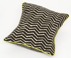 "Zig Zag Noir 20"" x 20"" Pillow #cushion, made in #Mali"