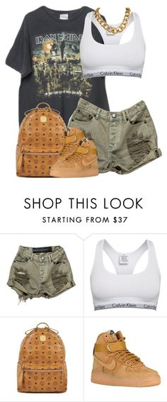 """Untitled #1567"" by power-beauty ❤ liked on Polyvore featuring Brandy Melville, OneTeaspoon, Calvin Klein, MCM and NIKE"