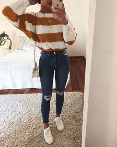 I would so wear this to school ❤️  #outfitsforschool  #cuteoutfits Stylish Outfits, Cute Fall Outfits, Stylish Hair, New Outfits, Spring Outfits, Clothes For Sale, Clothes For Women, Stylish Couple, Lazy Day Outfits For School