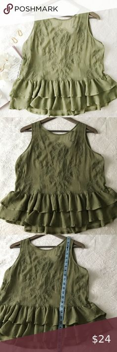 I just added this listing on Poshmark: Guess Semi Sheer Embroidered Peplum Top. #shopmycloset #poshmark #fashion #shopping #style #forsale #Guess #Tops Plus Fashion, Fashion Tips, Fashion Design, Fashion Trends, Shades Of Green, Professional Photographer, Peplum, This Or That Questions, Tank Tops