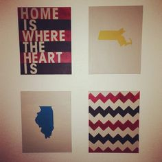 'home is where the heart' is with roommates home states #apartment #decor #interiordesign