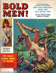 BOLD MEN, March 1961 - www.MensPulpMags by SubtropicBob, via Flickr