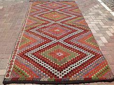 Large area rug, red embroidered Kilim rug, Vintage Turkish kilim rug, kilim rug, rug, bohemian rug, Turkish rug, rug, tribal rug, large rugs