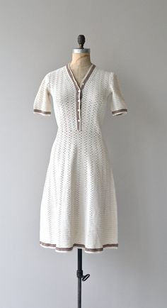 Radka knit dress vintage 1930s crochet dress 30s by DearGolden