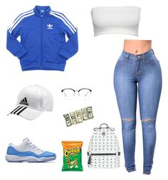 """Untitled #16"" by madisonm15-1 on Polyvore featuring adidas, Linda Farrow and MCM"