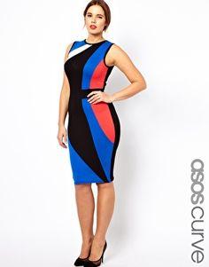 Color block dress plus size