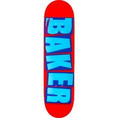 Brand new Baker Brand Logo Deck - now at Warehouse Skateboards! Baker Skateboards, Skateboard Decks, Warehouse, Red And Blue, Logo, Skateboards, Logos, Skate Board, Magazine