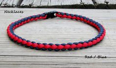 Hand Braided Paracord Sports Necklace Red by DUParacordNecklaces, $6.90