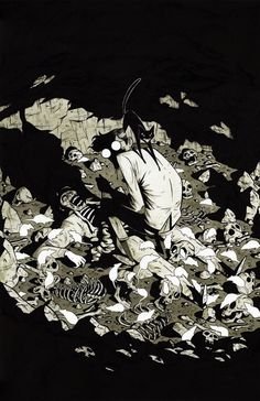 #HP #Lovecraft Rats in the wall illustration