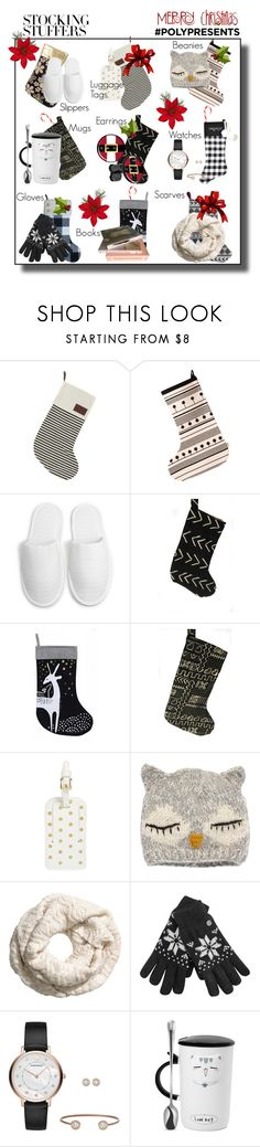 """#PolyPresents: Stocking Stuffers"" by beleev ❤ liked on Polyvore featuring interior, interiors, interior design, home, home decor, interior decorating, A by Amara, Truce, BP. and San Diego Hat Co."