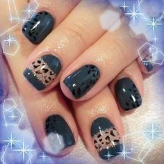 Black with Lace Mani....