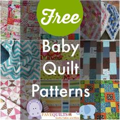 Free Baby Quilt Patterns #LetsQuilt