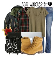 """Sam Winchester -- Supernatural"" by evil-laugh ❤ liked on Polyvore"