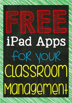 All Students Can Shine: Apps For Classroom Management. Some great ideas here!