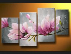 Abstract oil paintings painting floral still life new canvas wall art magnolia
