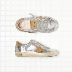 Golden Goose Super Star Sneakers In Leather With Leather Glitter Coated Star Kids - Golden Goose / GGDB #ggbd #superstar #kids #sneakers
