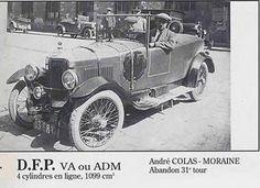 LE MANS 1925 - DFP VA  #46 -  André Colas -   Moraine