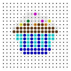 Afbeeldingsresultaat voor strijkkralen taartje