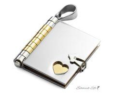 Buch Anhänger mit Herz  316 L  Edelstahl gold Silber...