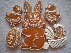 podhurka | PERNÍKY VELIKONOCE 2007 – rajce.net Easter Treats, Royal Icing, Gingerbread Cookies, Ornament, Sugar, Desserts, Food, Decor, Kitchen