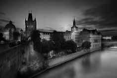 Evening on Charles Bridge Prague