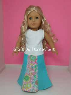 18 inch Doll Clothes Flared Skirt fits by GiGisDollCreations