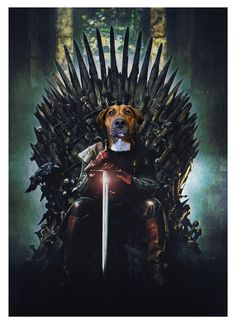 Portrait Renaissance, Game Of Thrones Poster, Fashion Forward, Posters, Pets, Little Puppies, Diy Dog, Famous Art, Celebs