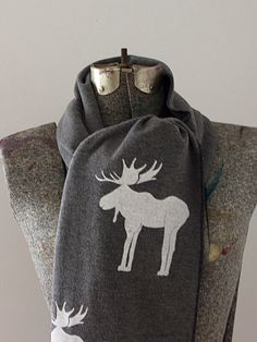 9aeb20c4ace0 Gray moose scarf Chocolate Moose