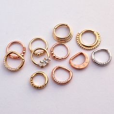 Septum rings and clickers from BVLA available through Classy Body Art
