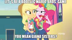 Fluttershy, Mlp, Giana Sisters, Pie Safe, Girls Series, Pinkie Pie, Image Macro, Equestria Girls, Family Games