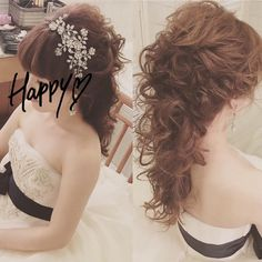 sanaさんはInstagramを利用しています:「タウン撮影での髪型♡ * * こぉ見えて、ポニーテールなんです✨😳💓 * * サンセット撮影では、ヘッドパーツだけ変えてもらいました💗 * さとみさんが言った通り、巻きも全然とれなかったです✨✨ * 国内でもこんな感じがいいなー🙈💓 * * hair & make:…」 Wedding Hair And Makeup, Hair Makeup, Down Hairstyles, Wedding Hairstyles, Bangs Updo, Plus Size Wedding Guest Dresses, Hair Arrange, Bridal Updo, About Hair