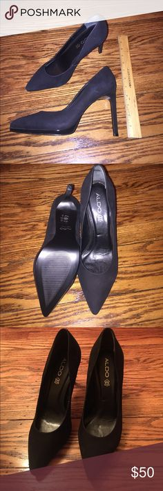 Brand new Black suede shoes Never worn Aldo pumps Aldo Shoes Heels