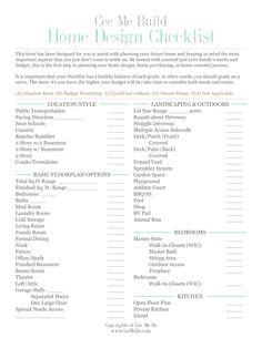 Interior design contract template interior doors for Custom home design checklist