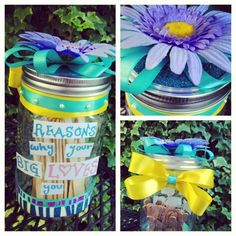 Mason Jars, Mason Jar Crafts, Sorority Craft Ideas, Little Craft Ideas