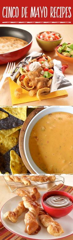 Recipe Fiesta Recipes The best Cinco de Mayo recipes — everything from Salsa con Queso to Mexican-inspired Baked Churros.The In Sound from Way Out! The In Sound from Way Out! may refer to: Holiday Recipes, Great Recipes, Favorite Recipes, Dip Recipes, Easy Recipes, Recipies, Dinner Recipes, Mexican Dishes, Mexican Food Recipes