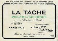 """Domaine de la Romanee-Conti """"La Tache""""....."""