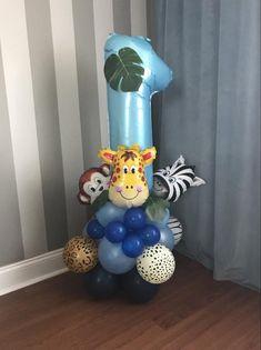 Wild One Balloon Garland, Wild One, Wild One balloons, Safari Balloons Jungle Theme, Wild One Balloo Jungle Balloons, Mermaid Balloons, Its A Boy Balloons, One Balloon, Number Balloons, Blue Balloons, Foil Balloons, Balloon Pump, 1st Birthday Balloons